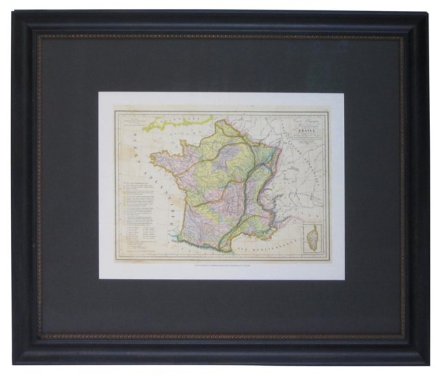 Lithographic Map of France