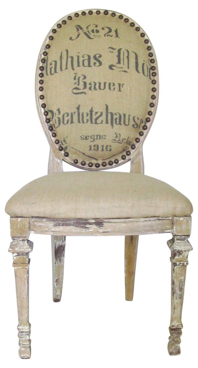European Grain Sack Chair
