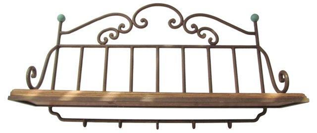 French Iron Wall Shelf