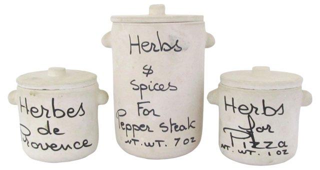 Provence Herb & Spice Jars, S/3