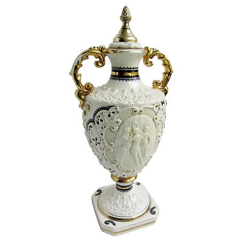 19th-C. Italian Porcelain Urn