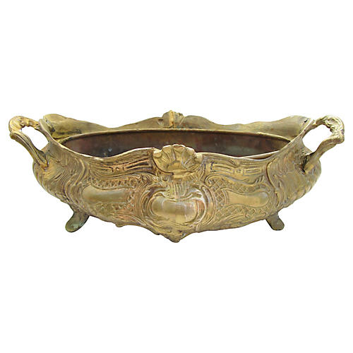 French Brass Jardinière