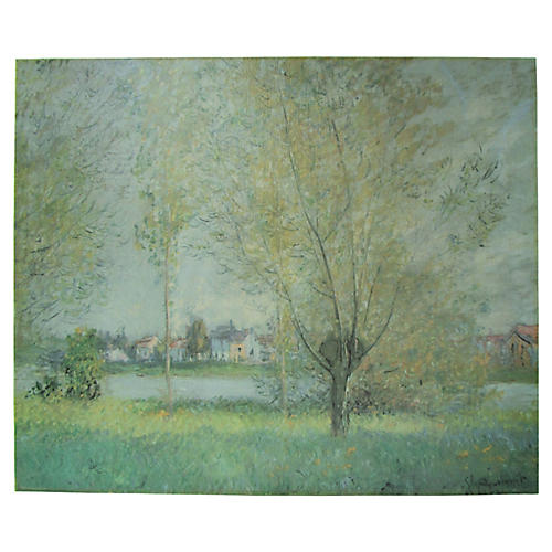 Willows of Vétheuil on Canvas
