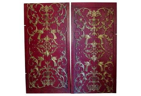 Antique Chinoiserie Panels, S/2