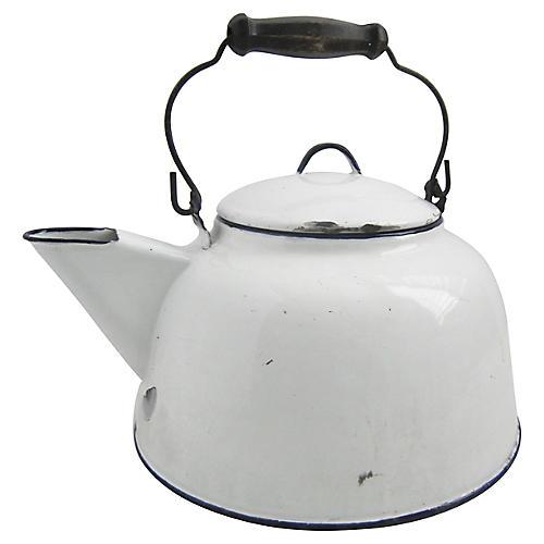 1940s French Enamel Teapot