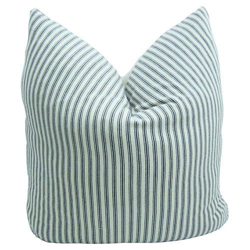Belgian Linen & French Ticking Pillow