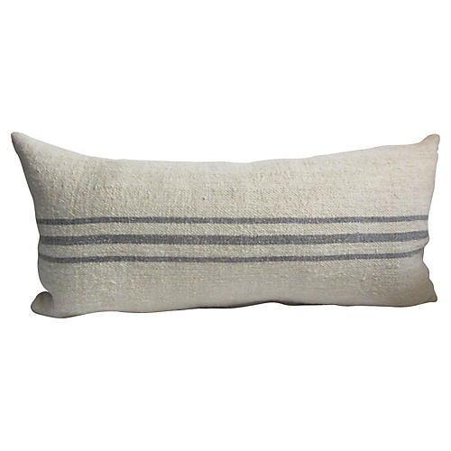 French Linen Striped Body Pillow