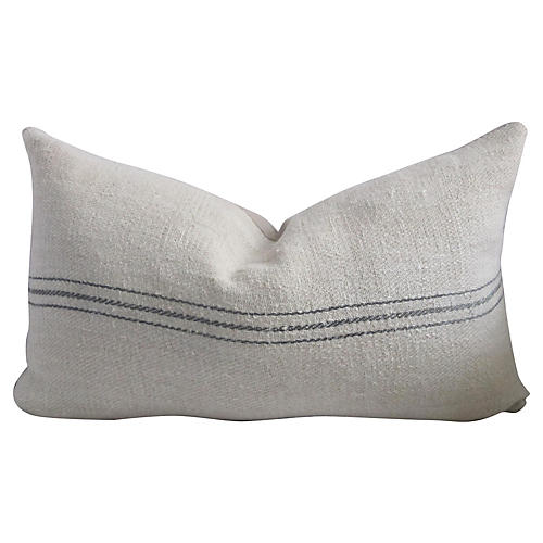French Linen Petite Striped Pillow