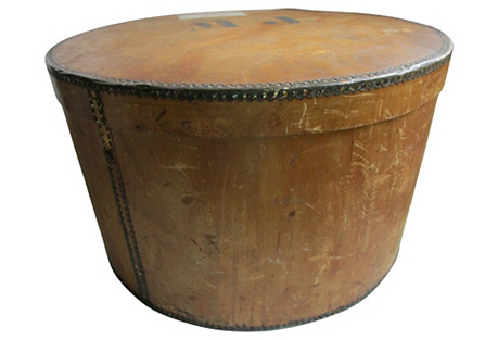 19th C. Antique French Wood Hat Box