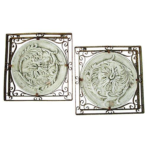 Italian Wall Mount Garden Medallions