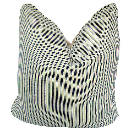 French Striped Ticking Pillow