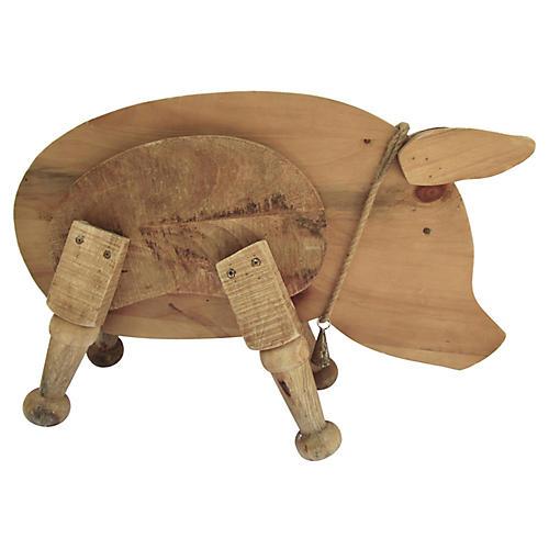 Large Farmhouse Wood Pig