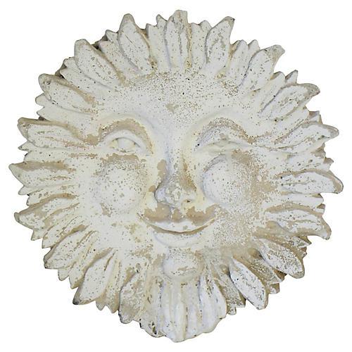 Garden Concrete Sun Relief Plaque