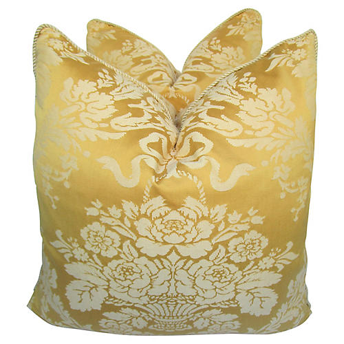 Floral Damask Pillows, S/2
