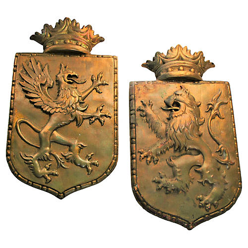 French Lion & Dragon Crests, S/2