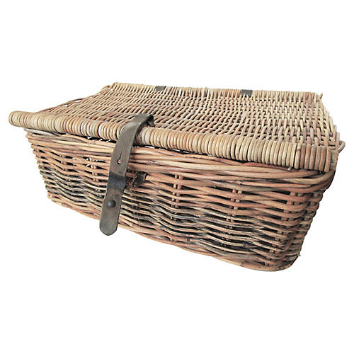 Antique French Willow Trunk