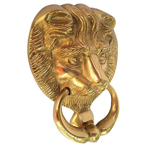 Solid Brass Lion Door Knocker