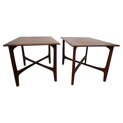 DUX Teak Side Tables, S/2