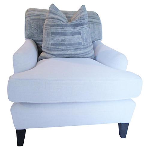 French Linen & Hemp Club Chair