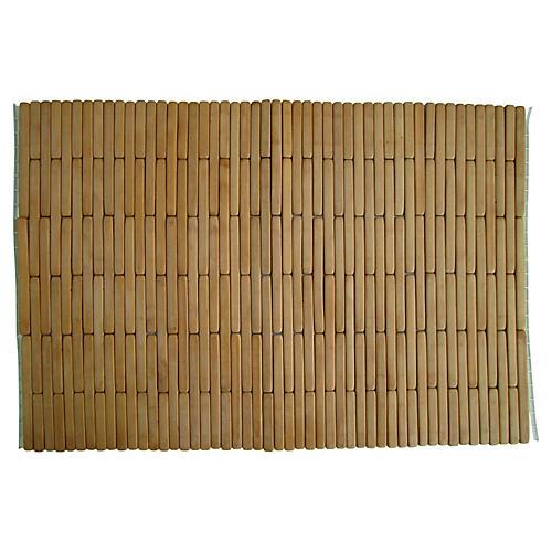 1960s Natural Bamboo Place Mats, S/5