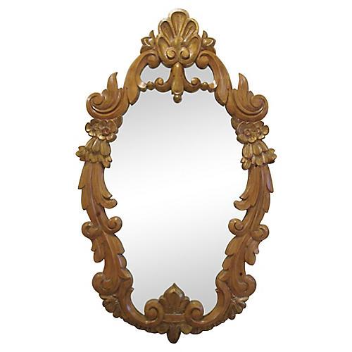 French Carved Fleur-de-Lis Mirror