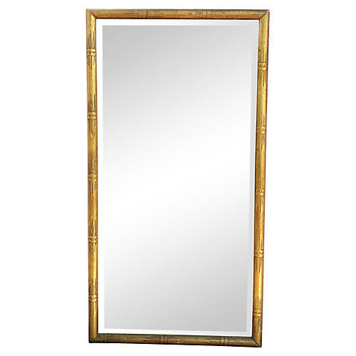 Midcentury Gilded Faux-Bamboo Mirror