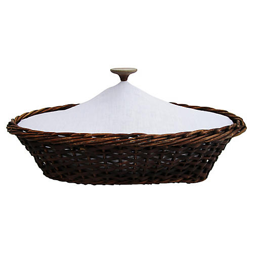 French Willow Bread Basket