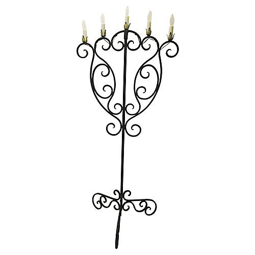 Antique Iron Candelabrum