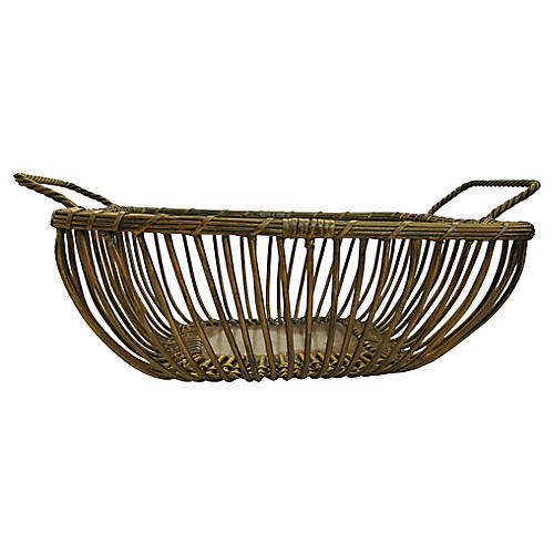 French Gilded Wire Bread Basket