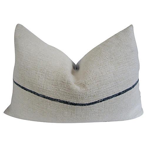 French Stripe Linen Pillow