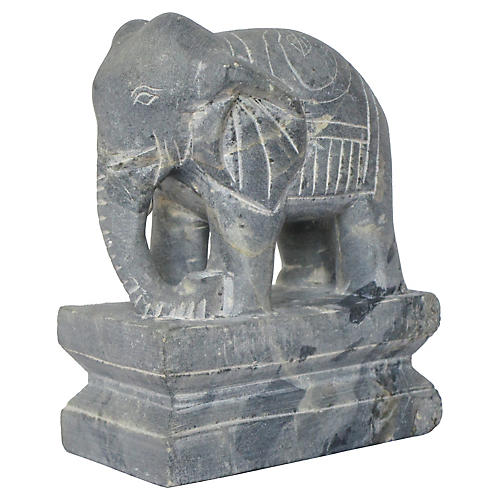 Chinese Carved Marble Elephant