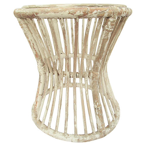 Weathered Bamboo Side Table