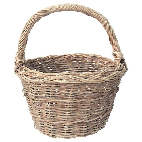 French Willow Gathering Basket