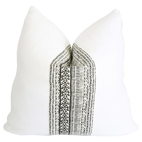 French Linen Yao Tribal Pillow