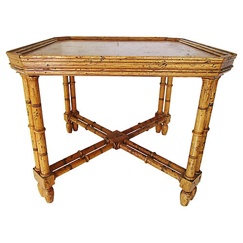 Chinoiserie Tortoise Side Table