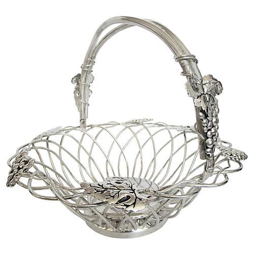 Italian Silver-Plate Bread Basket