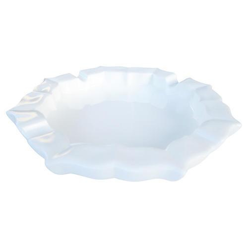 1930's White Milk Glass Ashtray