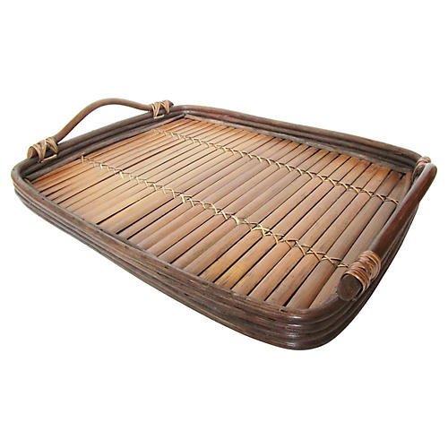 Bent-Willow Bamboo Tray