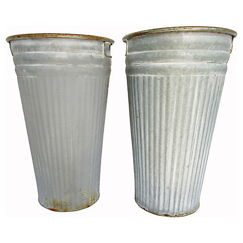 French Flower Buckets, S/2