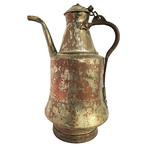 French Primitive Copper Kettle