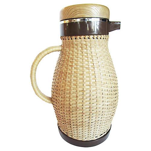 Woven Rattan Coffee Carafe