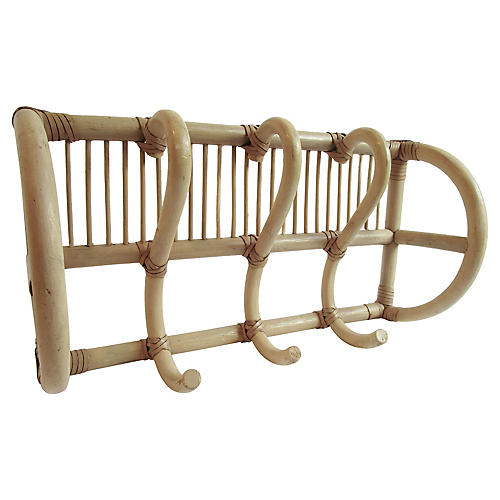 French Bamboo Coat & Hat Rack