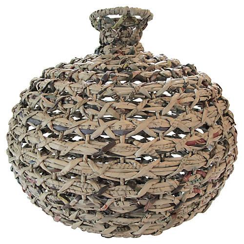 Textural Handwoven Vase