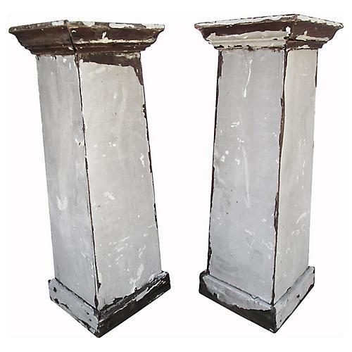 Swedish Gustavian-Style Columns, S/2