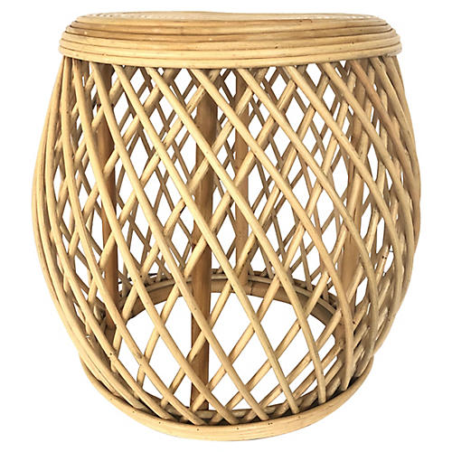 Natural Bamboo Side Table