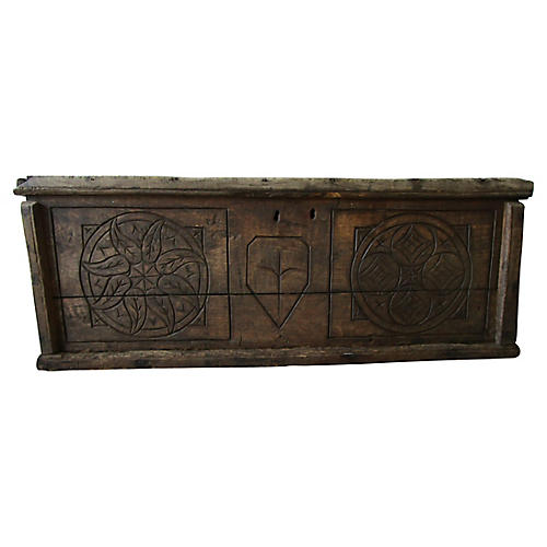 19thC. Carved European Chest