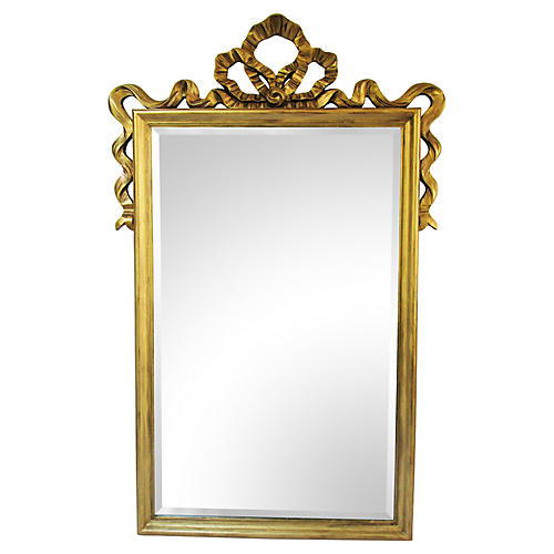 1950s French Gilded Mirror