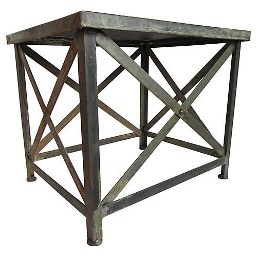 Zinc Bakery-Tray Side Table