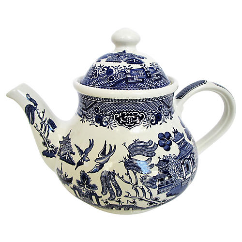 English Staffordshire Coffee/Tea Pot