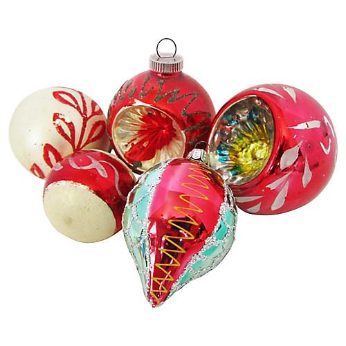 European Christmas Ornaments S/8